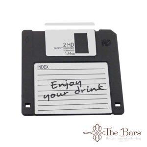 posavasos disquete negro